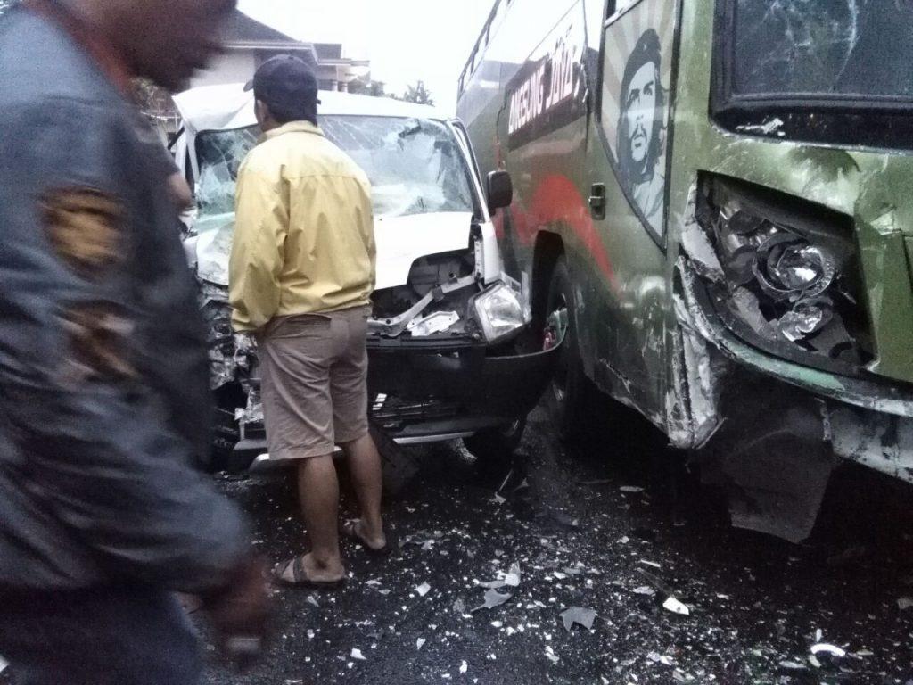 Begini Rangkaian Foto Kecelakaan Maut yang Menewaskan Ibu-ibu di Tawangmangu