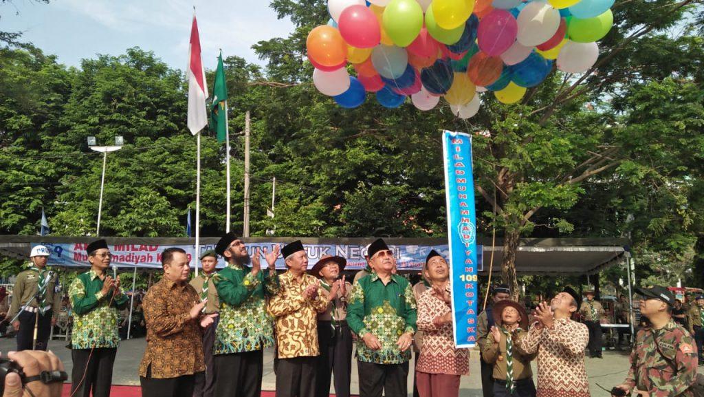 Serunya, 4.500 Orang Ikuti Apel Milad Muhammadiyah 106 Tahun