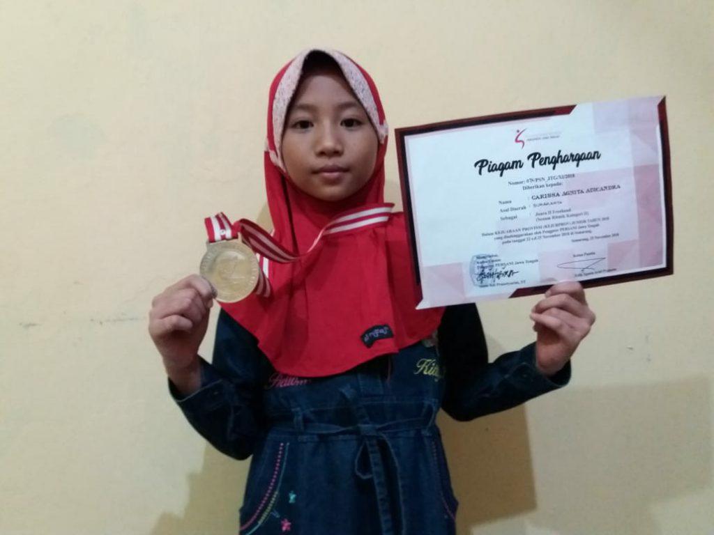 Wakili Solo, Siswi SD Muh 1  Juara 2 Lomba Freehand Tingkat Provinsi Jawa Tengah