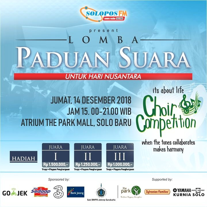 Besok, Choir Competition 2018 digelar