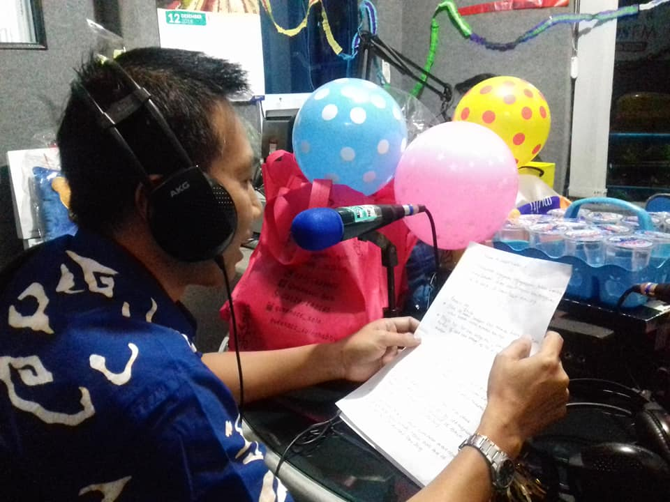Perayaan malam pergantian tahun Solopos FM bersama pendengar setianya, di studio Solopos FM, Senin (31/12/2018)