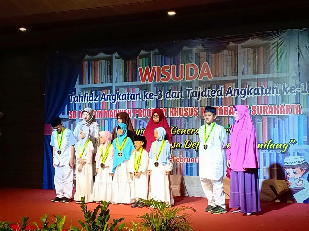 Wisuda Tahfidz dan Tajdied SD Muhammadiyah PK Kottabarat Solo, Membentuk Generasi Cinta Quran