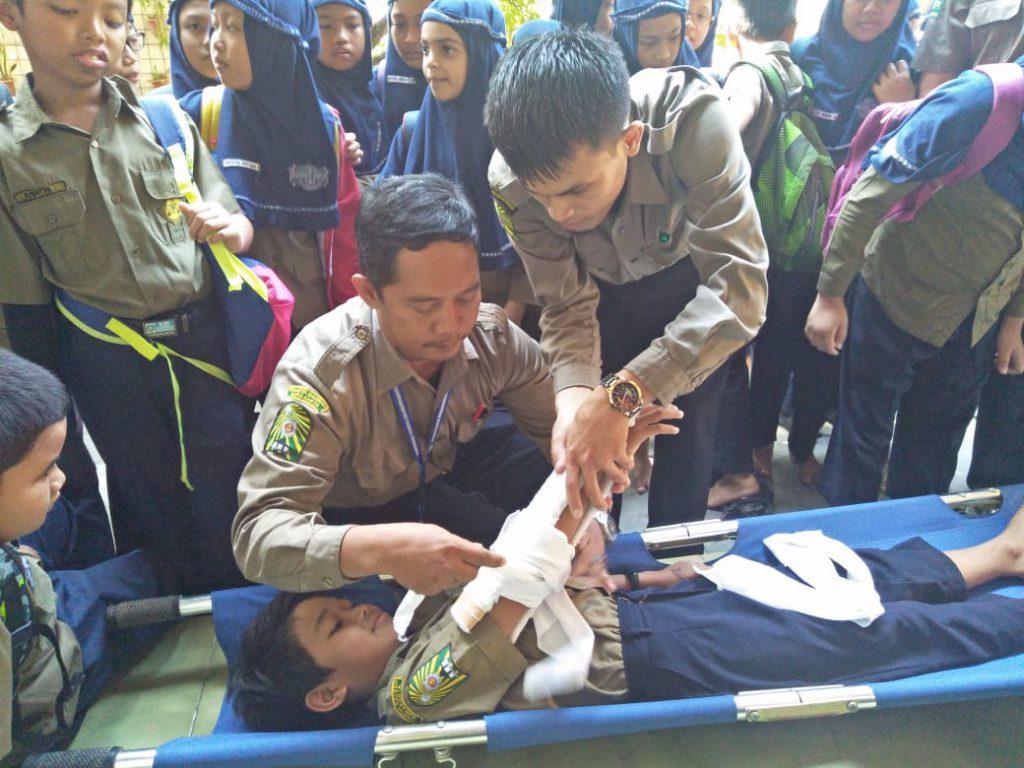 Hari Kesiapsiagaan Bencana Nasional 2019, SD Muhammadiyah PK Kottabarat Solo Gelar Simulasi Bencana Gempa Bumi