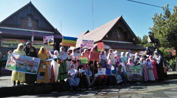Ratusan Siswa SD Muhammadiyah 1 Ketelan Solo Gelar Pawai Akbar Sambut Ramadhan