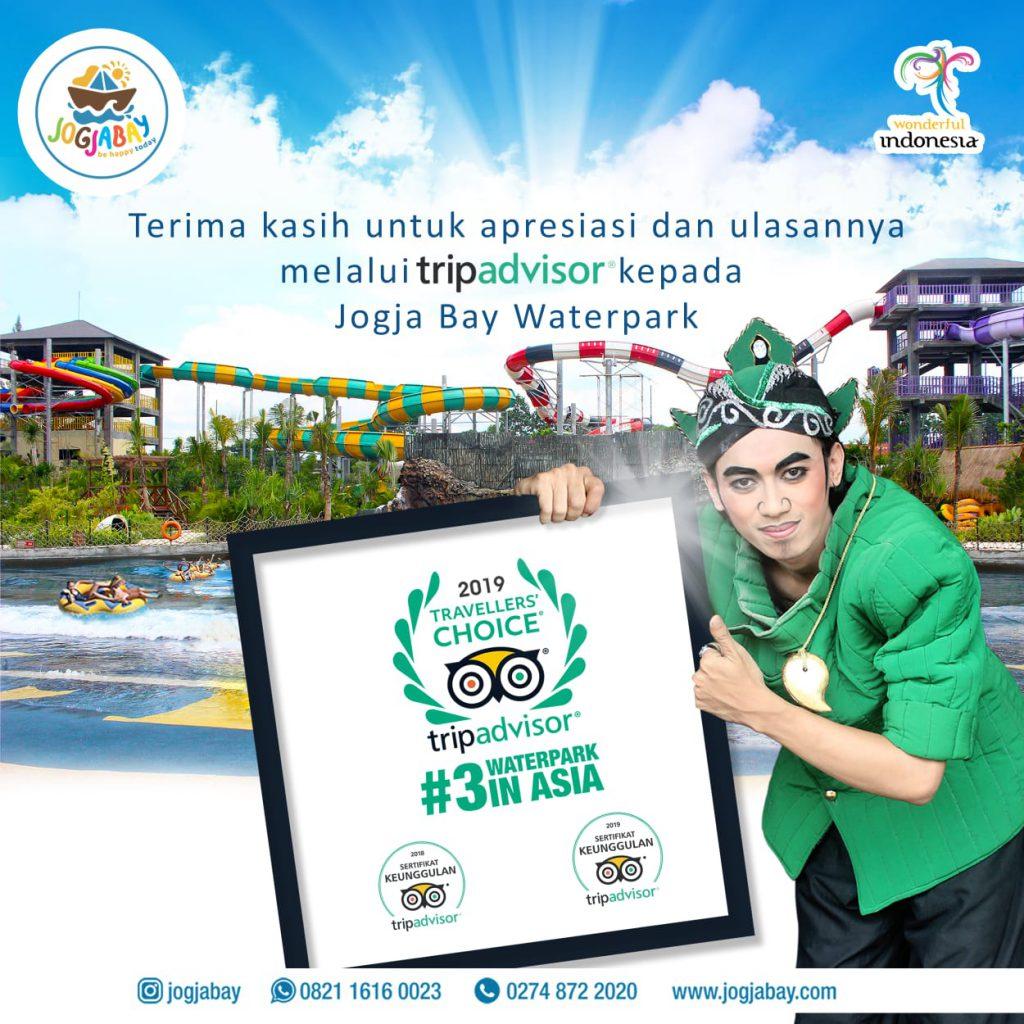 Jogja Bay Waterpark Raih Penghargaan Nomor 3 Waterpark Terbaik Se-Asia