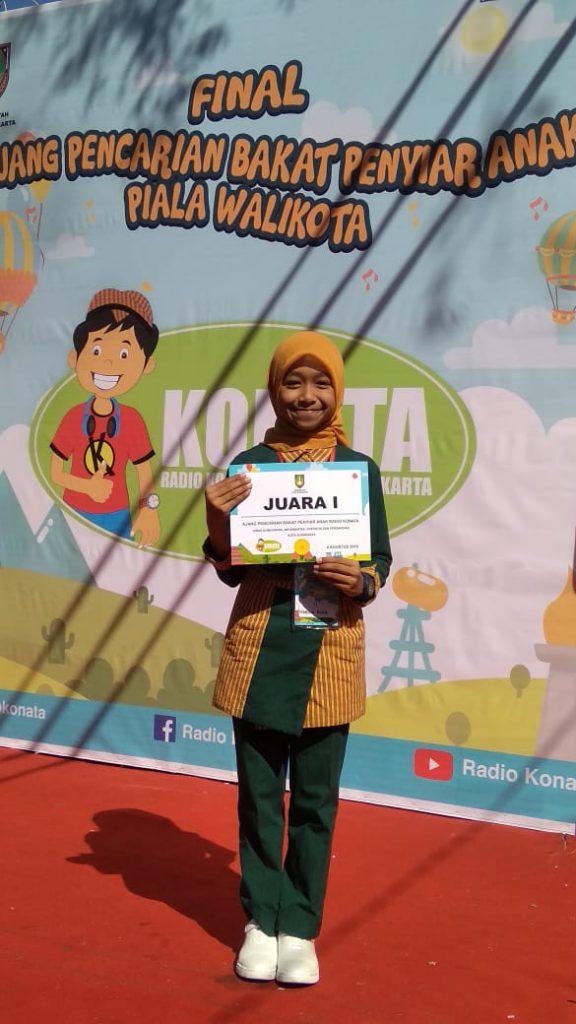 Nabiila Alya Hernanda, Juara Pertama Penyiar Cilik Konanta