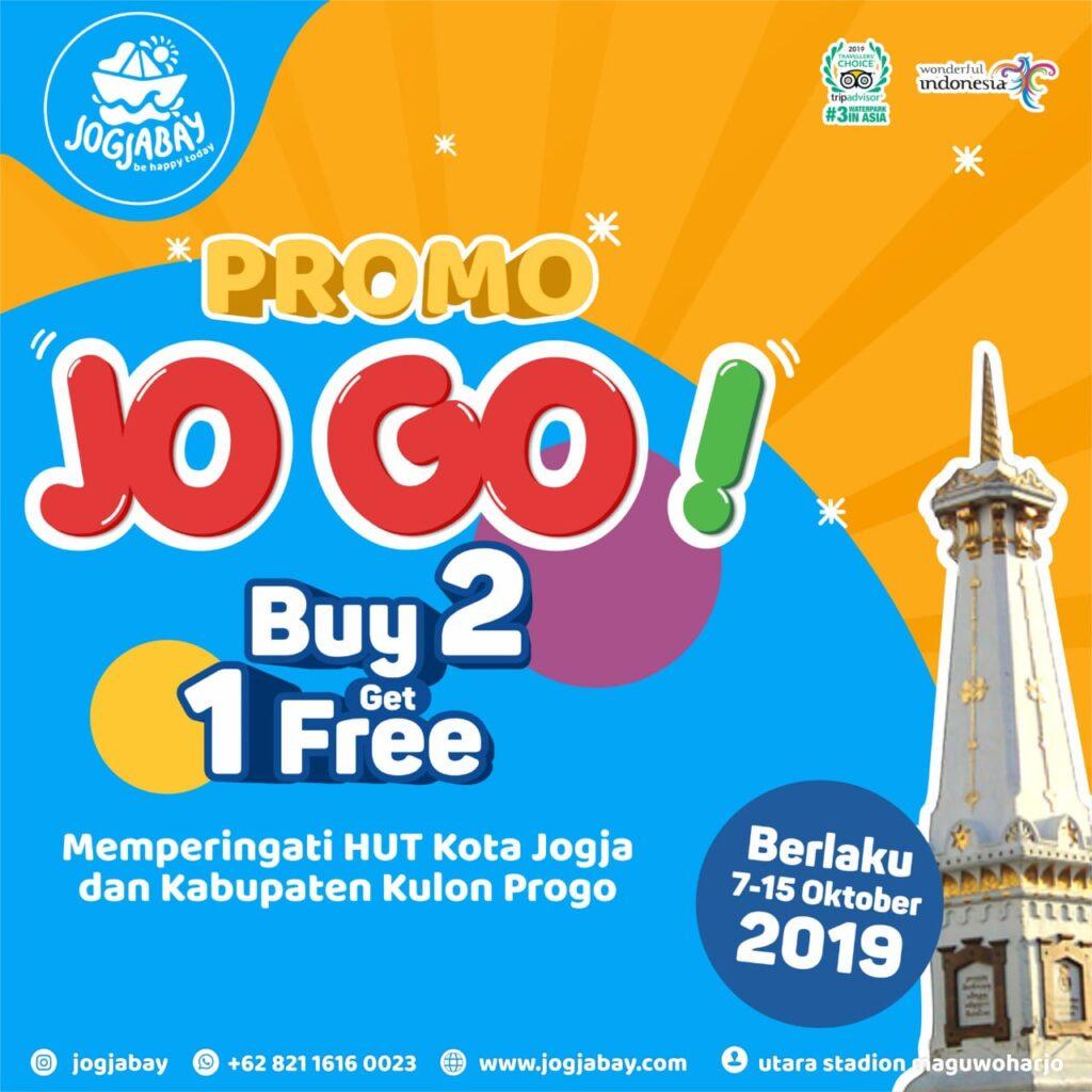KTP Kota Jogja dan Kulonprogo, Promo Buy 2 Get 1 Free Tiket Jogja Bay