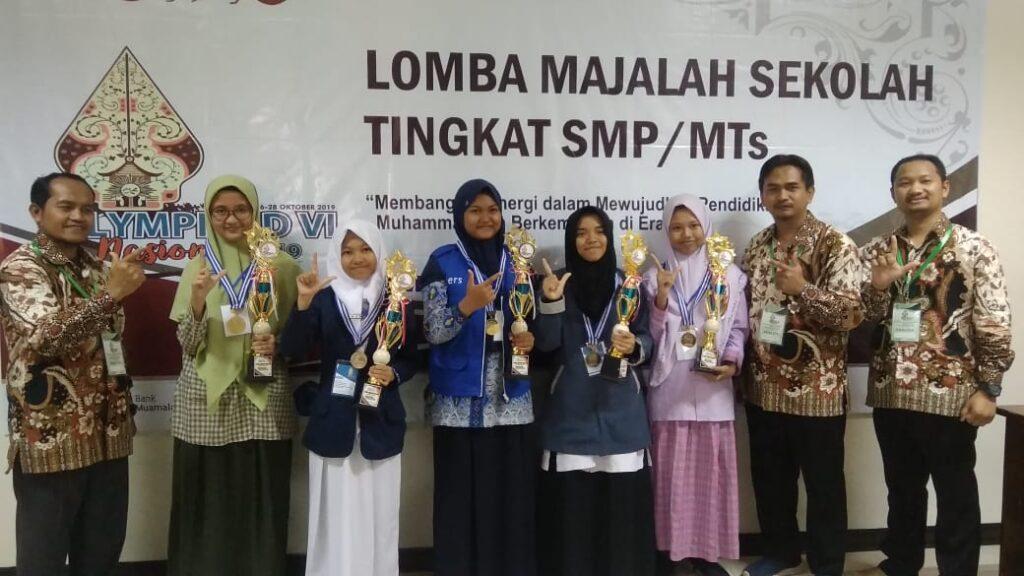Siswa SMP Muhammadiyah PK Kottabarat Solo Raih 8 Medali OlimpycAD VI