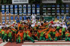 Keceriaan Puluhan Siswa SD Muhammadiyah 1 Ketelan Solo Belajar Tertib Barlalu Lintas