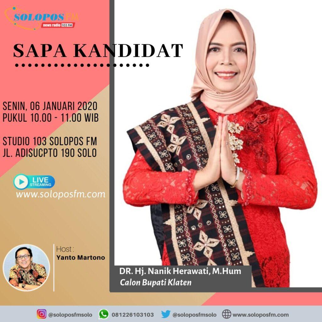 Sapa Kandidat, Nanik Herawati, Bakal Calon Bupati Klaten Periode 2020-2024