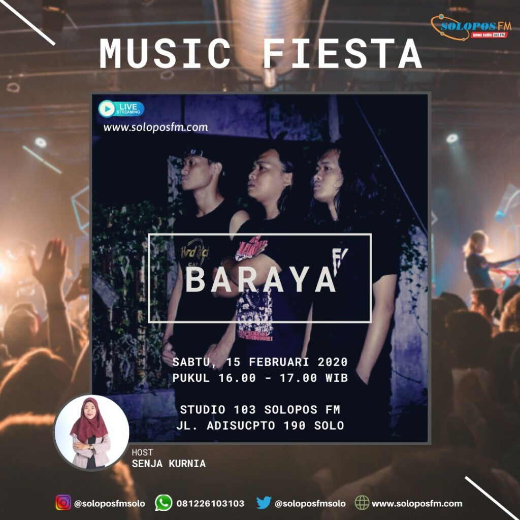 Musik Fiesta, Bersama Baraya, Pengusung Genre Indiefolks Alternatif Dari Solo