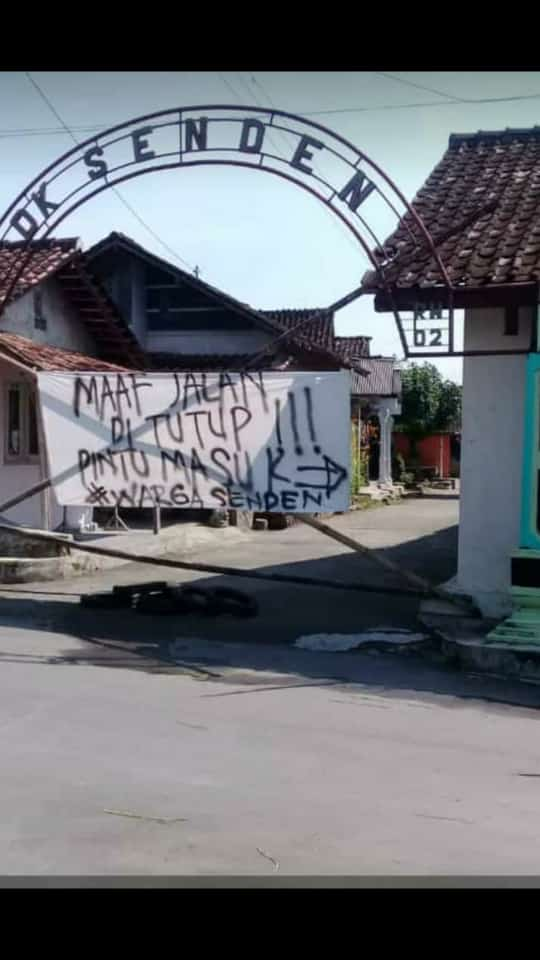 Lockdown Lokal Ala Dukuh Senden