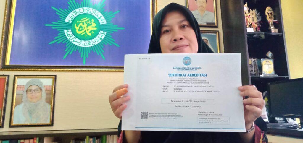 SD Muhammadiyah 1 Ketelan Solo Pertahankan Akreditasi A