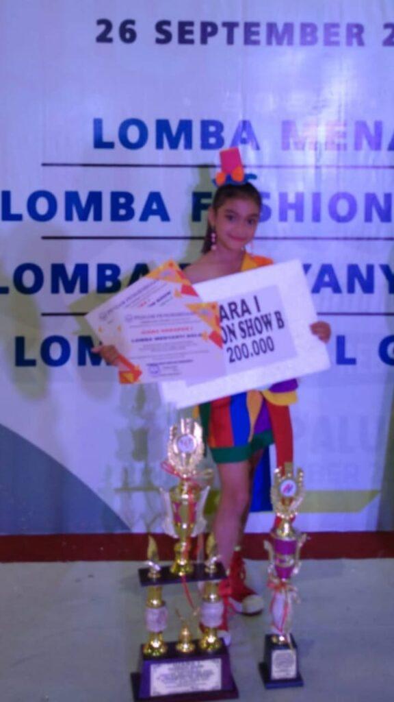 Rajwa Aisyah Juarai Lomba Fashion Show di Tengah Pandemi
