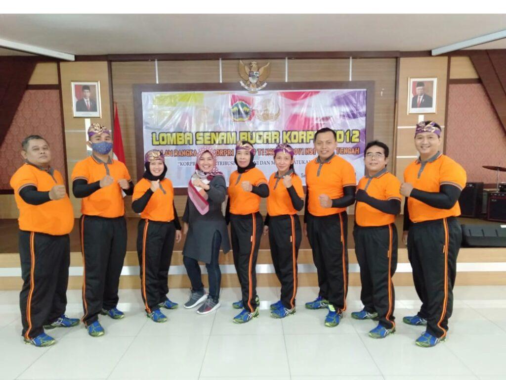 KORPRI Dinas Pendidikan dan Kebudayaan Provinsi Jawa Tengah Menangi Lomba Senam KOPPRI Disporapar 2020