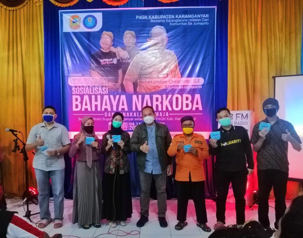 Sosialisasi Bahaya Narkoba & Kenakalan Remaja P4GN Kabupaten Karanganyar Di Jumapolo
