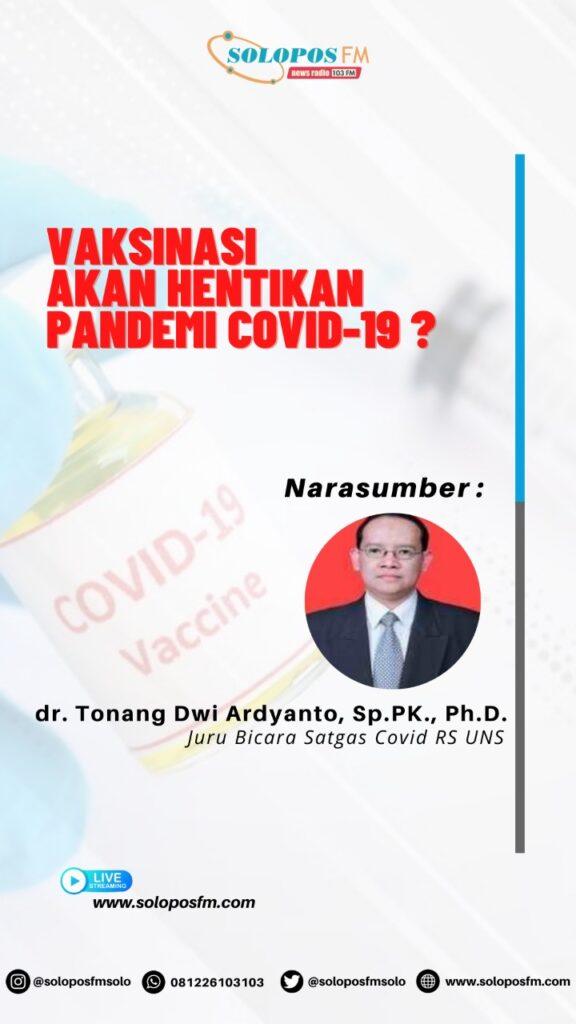 Mayoritas Pendengar Solopos FM Tidak Yakin Vaksinasi Akan Hentikan Pandemi Covid-19