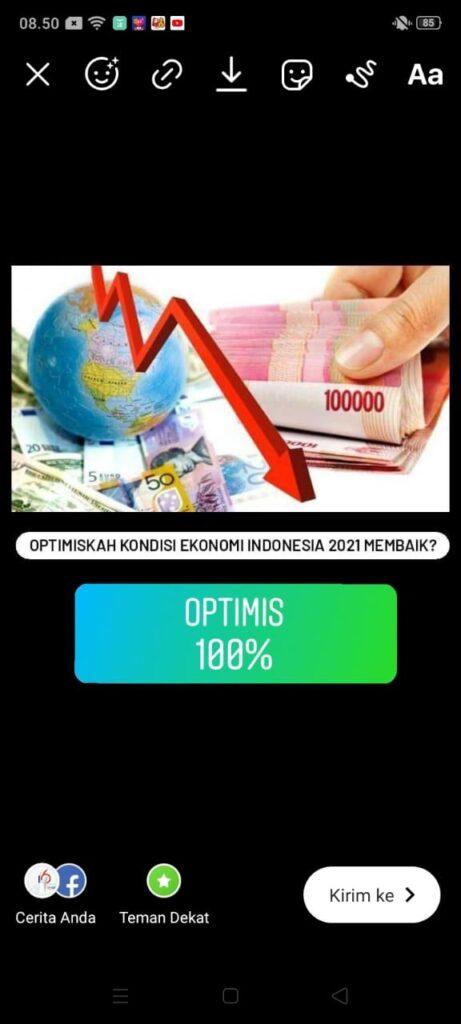 Hasil Polling Optimisme Ekonomi 2021