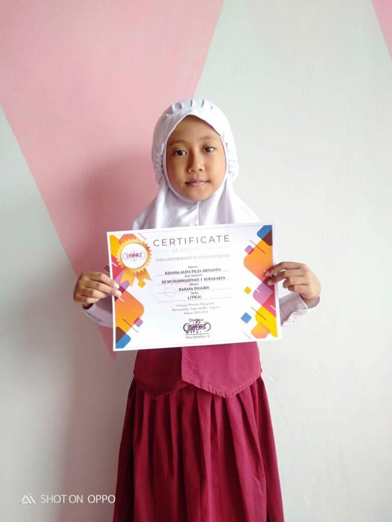 Khansa Alifa Filza Ariyanto, Terus Cetak Prestasi di Tengah Pandemi
