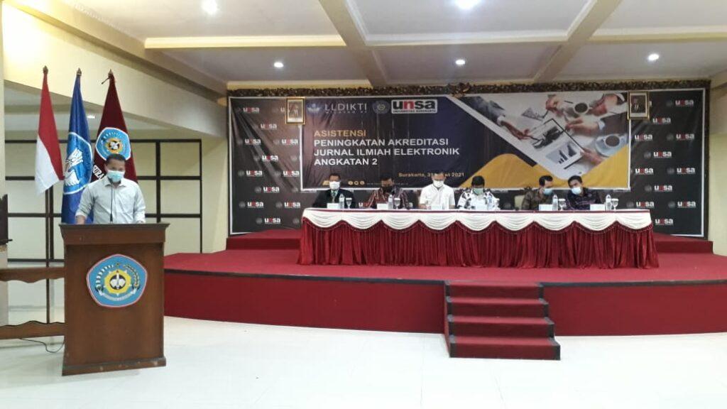 Assistensi Peningkatan Akreditasi Jurnal Ilmiah elektronik Di Universitas Surakarta