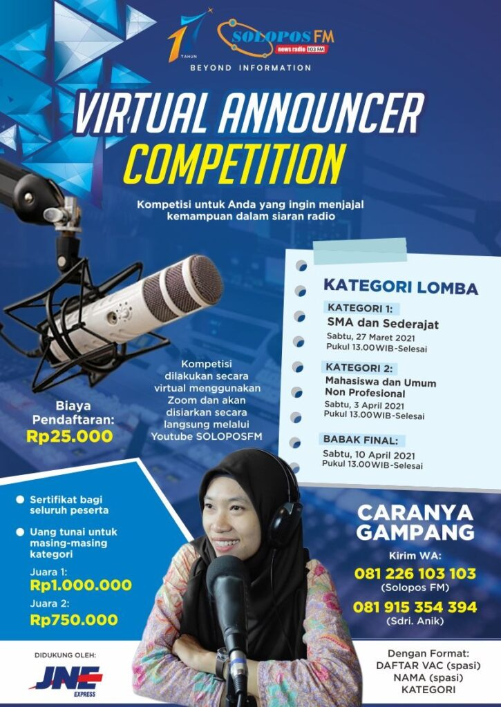 Virtual Announcer Competition Solopos FM