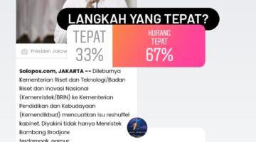 Rencana Reshuffle Kabinet Dinilai Pendengar Solopos FM Kurang Tepat