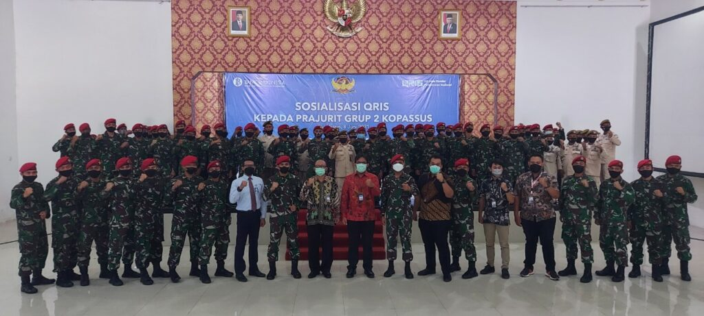 Grup 2 Kopassus Ikuti Sosialiasi QRIS yang Digelar BI